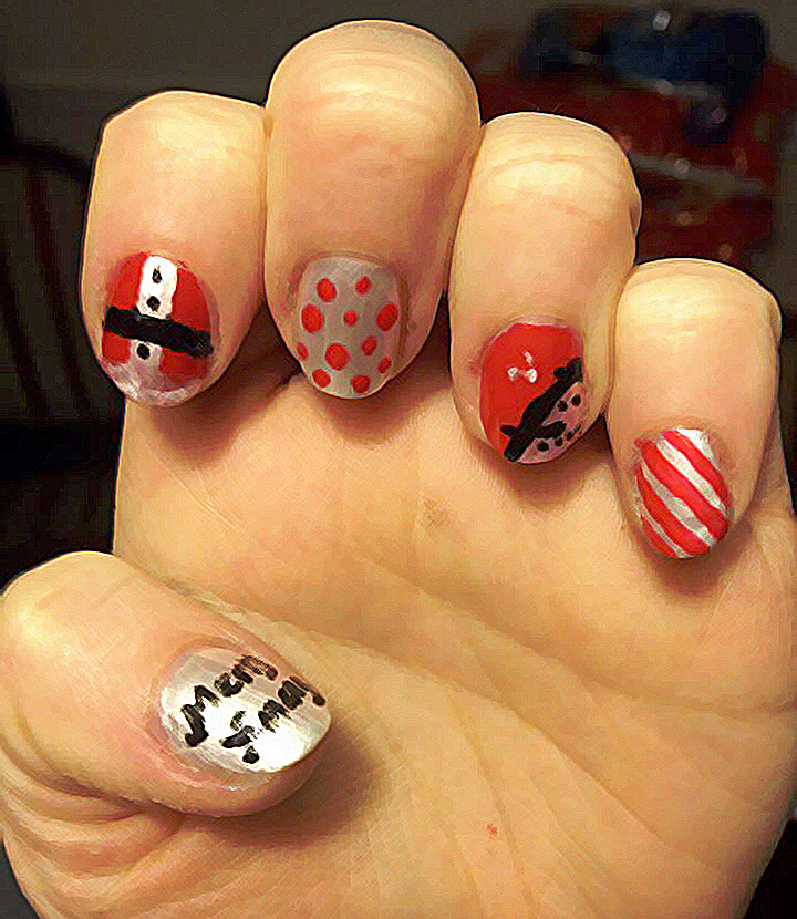 5 Christmas nail art ideas