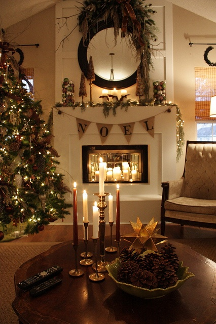 Rustic Christmas Interior