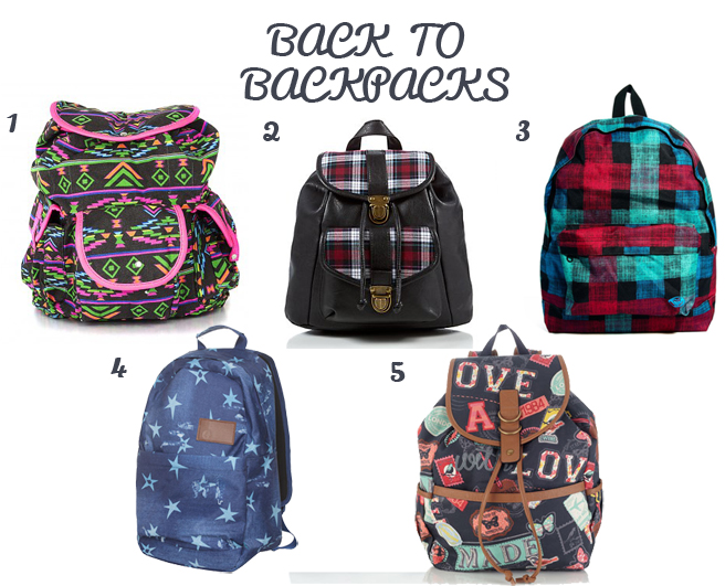 Back to backpacks feature