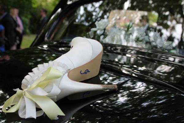 wedding cake shoe