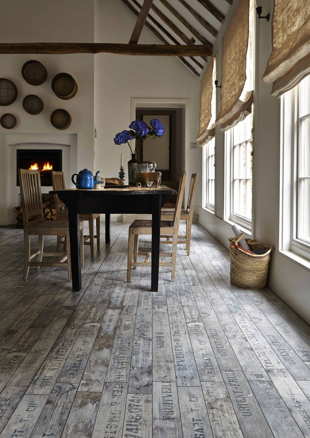 rustic writing on the floor laminate cottage