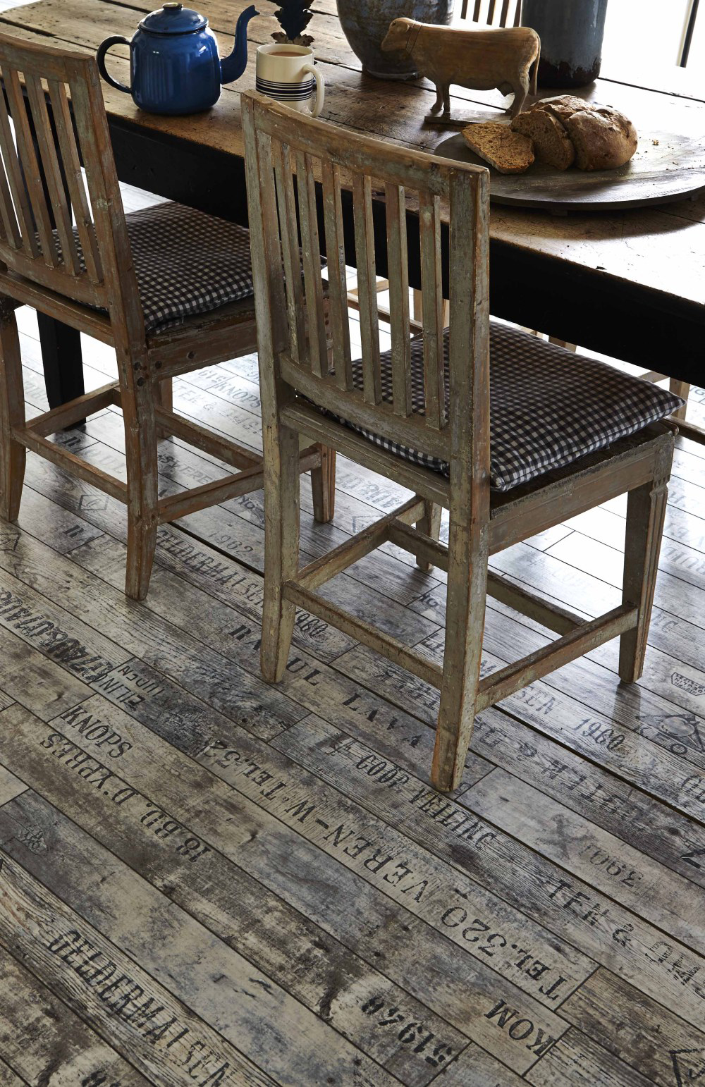 wine and fruit crates writing on the floor rustic furniture