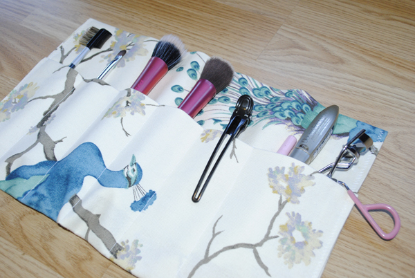 makeup brushes and holder