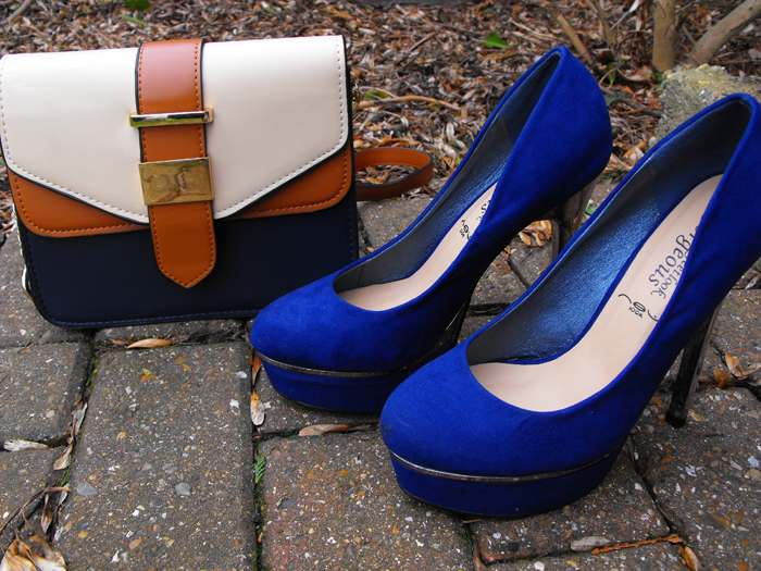 accessorise bag and new look shoes