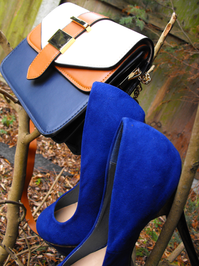 blue bag and shoes