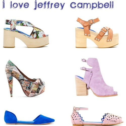 Jeffrey Campbell shoes heels flats spring season trendy