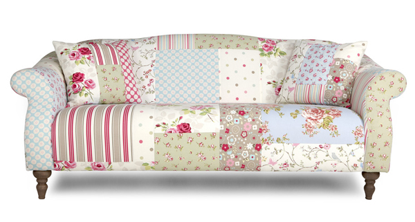 pastel sofa patterns floral dots