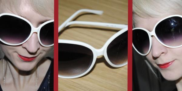 blogger style white sunglasses