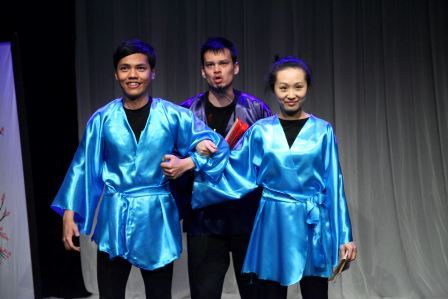 Blue elephant theatre costumes