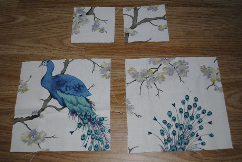 peacock material diy scented sachets