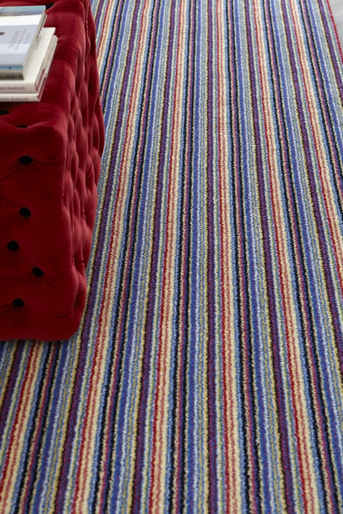 Hallway colourful striped carpet runners