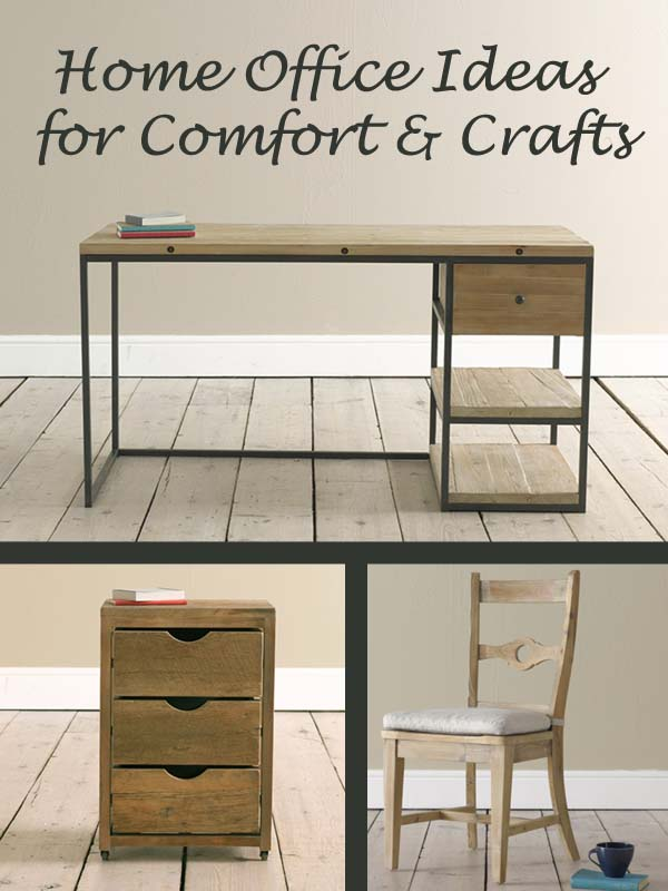 home office ideas for comfort and crafts