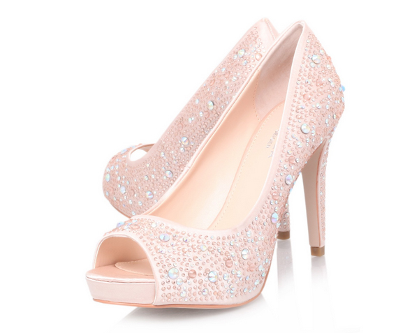 kurt geiger pink shoes peep toes