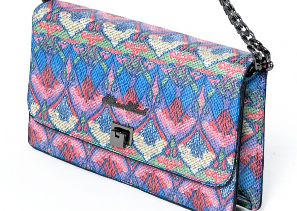 patterned bag want her dress