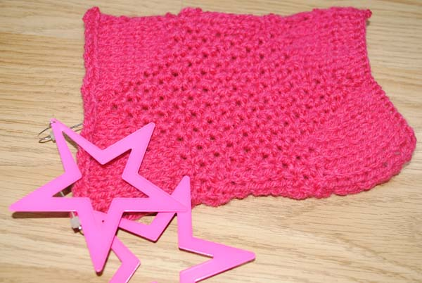 pink star knitting pattern fairytale pretty picture