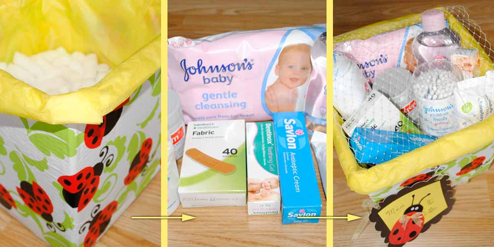 diy gift idea for a mum to be  baby essentials hamper, Baby shower invitation