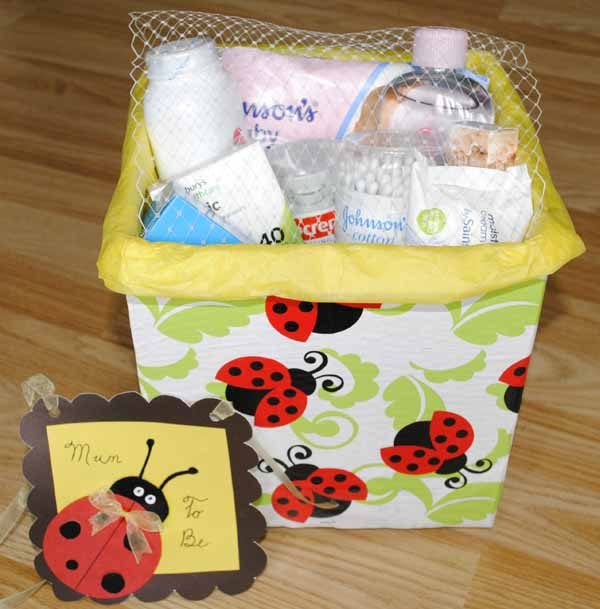 diy baby essentials gift box hamper idea