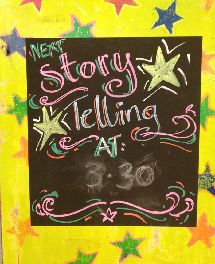storytelling at pop up festival of storties