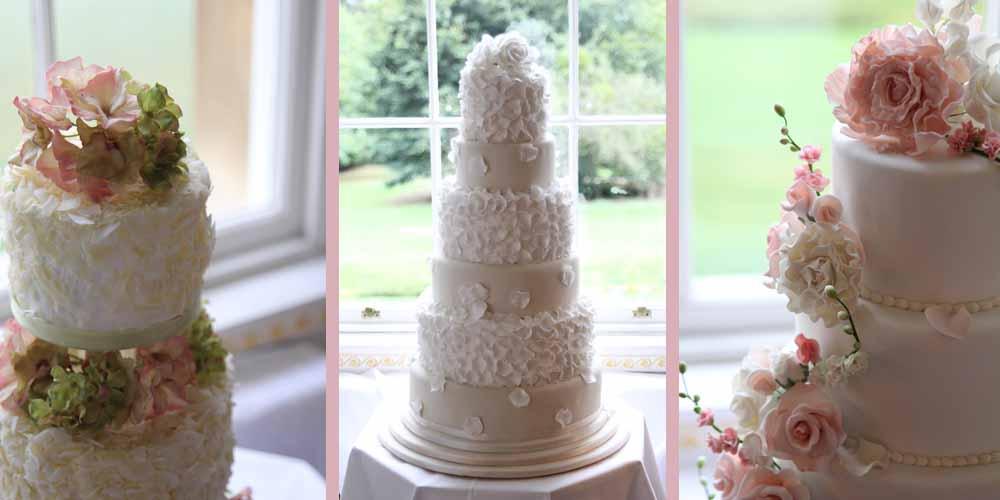 Cake Decorations Wedding Uk : Floral Wedding Cake Decorations