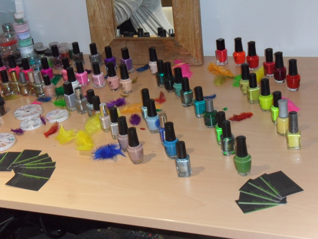colourful nails for call it spring jajaja jamaica event