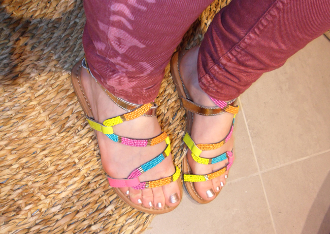 colourful sandals call it spring shoes