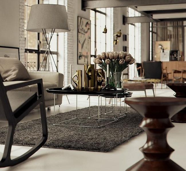 metallics interior grey rug with fresh flowers home