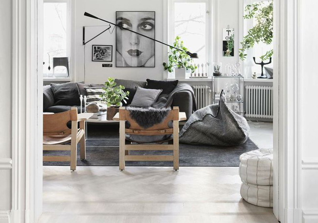 minimalism interior nordic grey black and white decor