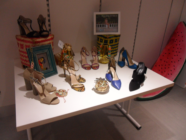 shoe display call it spring at debenhams