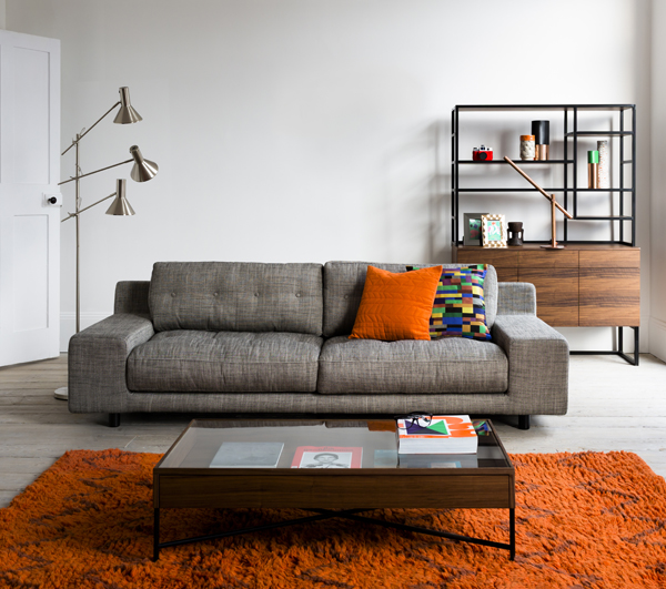 home interior design orange theme