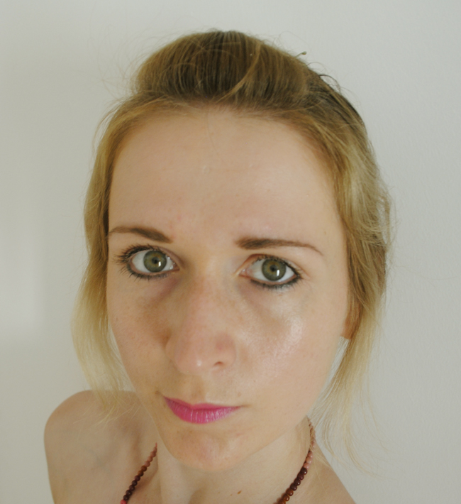 BB cream review life shot wearing makeup example