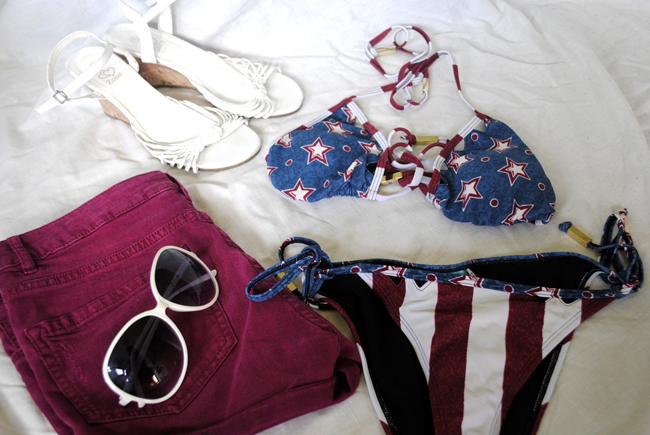 american flag swimming costume holiday summer clothes