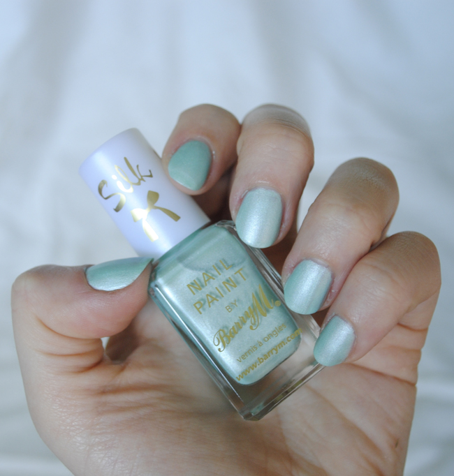 barry m nail polish pastel blue green holiday summery colours silk matte