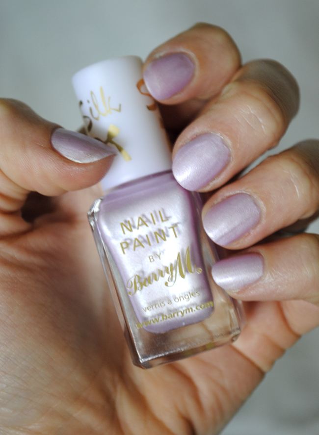 barry m nail polish pastel purple summer colours silk collection