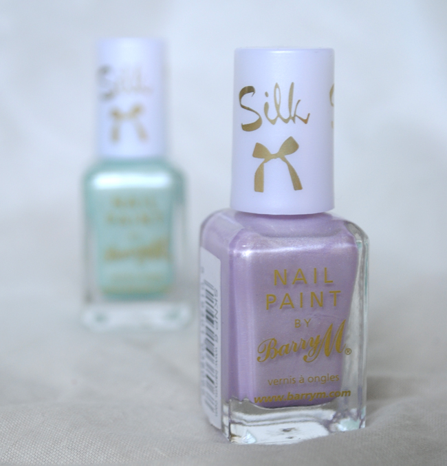 barry m silk nail polish purple pink green blue