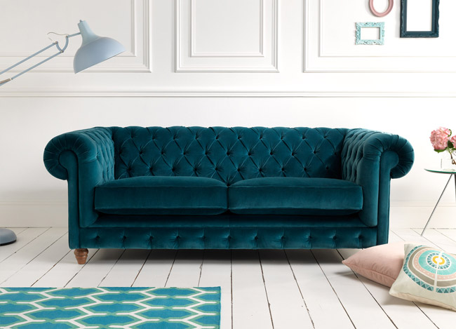 Teal sofa from couch classic contemporary modern furniture