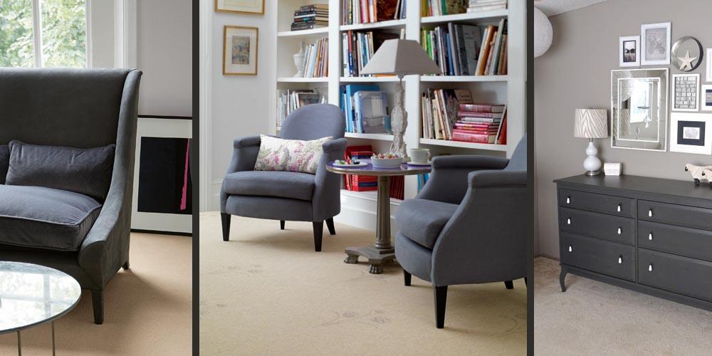 dark grey furniture beige floor monochrome decor blog interior style