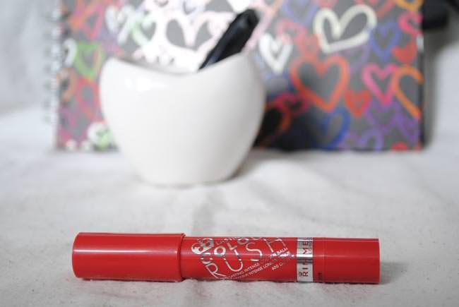 red lip crayon balm colour rush subtle