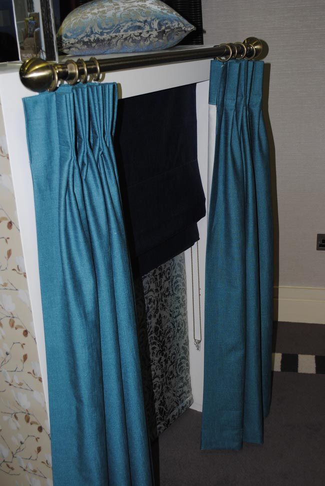 teal curtain interior design hillarys blinds house beautiful magazine