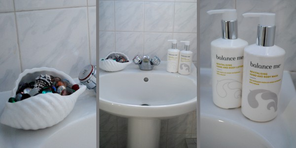 balance me guest bathroom interior revitalising hand wash and lotion
