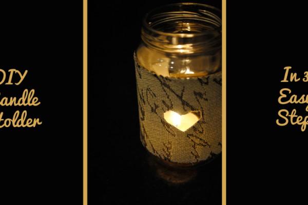 candle holder diy crafts jar leftover material