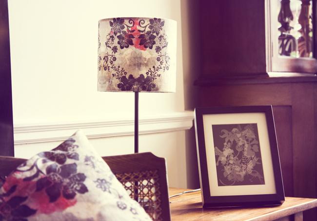 lamp shade cushion lounge interior at WE home blog