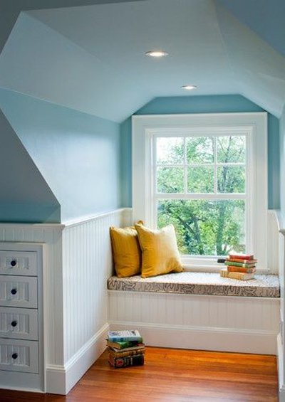 window seel seating attic ideas