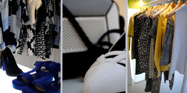 Next Press Day fashion trends yellow blue black and white