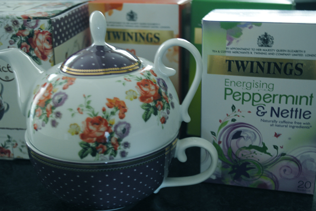 Twinings tea assortment tea pot cup food blog