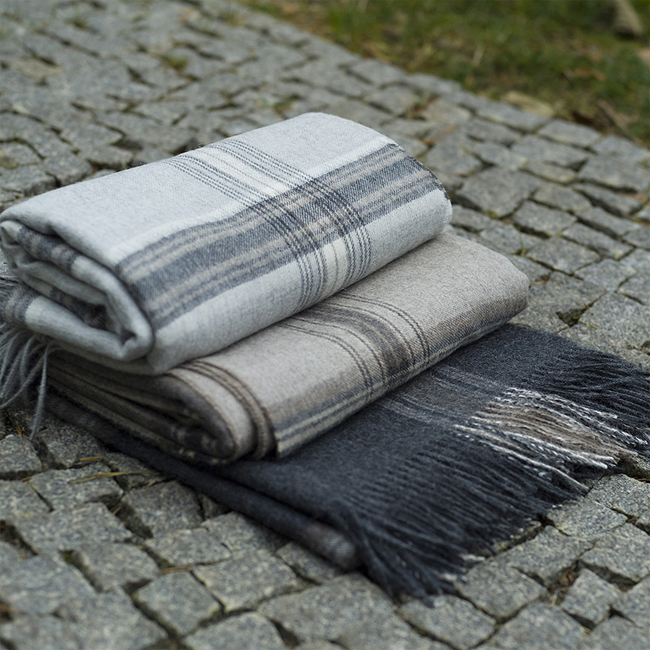 checked blanket throw patterned
