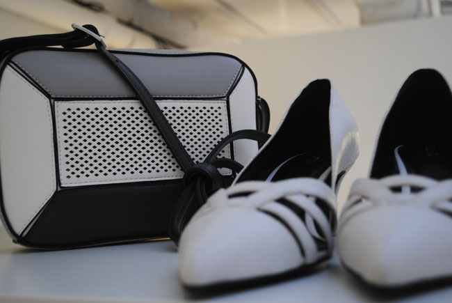 monochrome shoes and bag from next