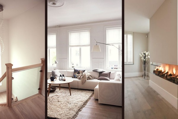 wood flooring for winter with rugs, heating, fireplace interior