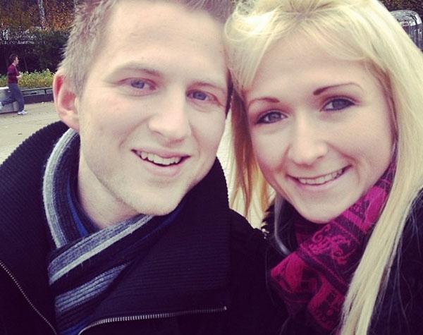 chris and I at the southbank christmas time