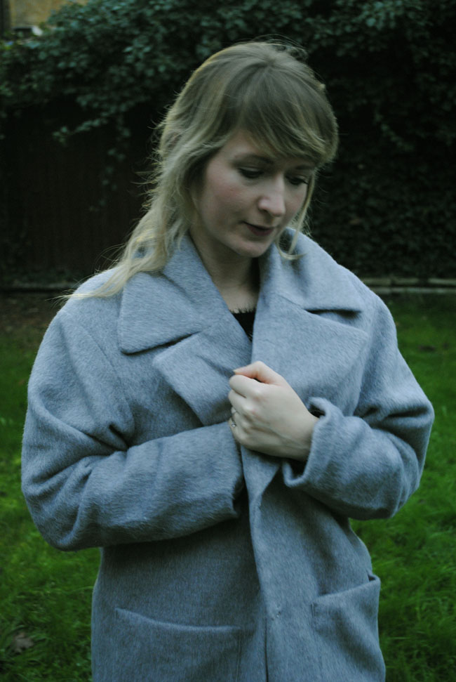 coat fashion photography grey winter wear