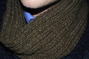 Men's Cowl Snood Knitting Pattern